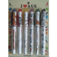 PACK OF 6 KOALA & KANGAROO DESIGN PENS
