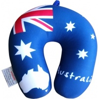 AUSTRALIAN FLAG DESIGN TRAVEL PILLOW