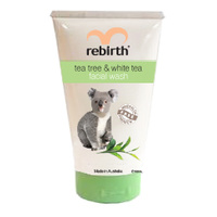 REBIRTH FACIAL WASH - TEA TREE AND WHITE TEA - 100ML - WITH EUCALYPTUS OIL & VITAMIN E