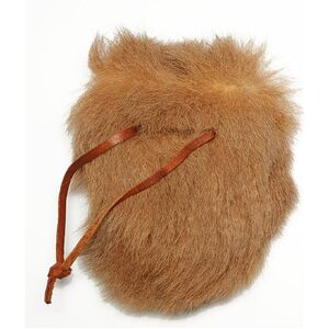 KANGAROO FUR COIN POUCH - WITH DRAWSTRING