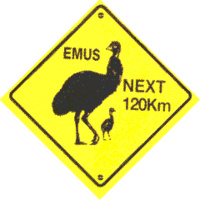 'EMUS NEXT 120 KM' MEDIUM PLASTIC ROADSIGN