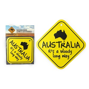 'AUSTRALIA - IT'S A BLOODY LONG WAY' LARGE METAL ROAD SIGN