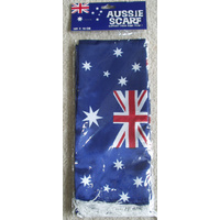AUSTRALIAN FLAG DESIGN SATIN SCARF