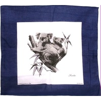 BLUE KOALA DESIGN COTTON SCARF