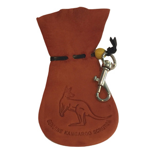 AUSSIE KANGAROO SCROTUM COIN POUCH WITH KEY CHAIN - MEDIUM SIZE