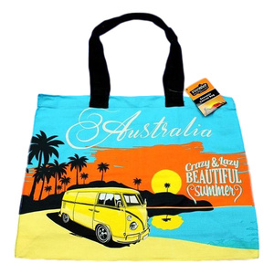 AUSTRALIA KOMBI CRAZY BEAUTIFUL SUMMER DESIGN CANVAS SHOPPING BAG