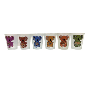 SHOT GLASSES - PACK OF 6 KOALAS WITH ABORIGINAL ART
