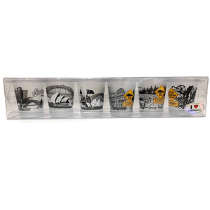 SHOT GLASSES - PACK OF 6 SYDNEY ICONS