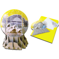 SYDNEY SNOWGLOBE POP-UP GREETING CARD