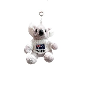 SOFT TOY KEYRING - KOALA WITH WHITE JUMPER