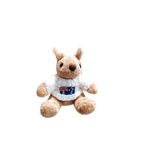 SOFT TOY KEYRING - KANGAROO WITH WHITE JUMPER