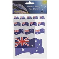 AUSSIE WAVING FLAG STICKERS - 13 PACK