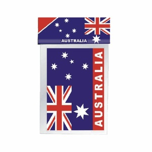 PACK OF 2 LARGE AUSTRALIAN FLAG STICKERS