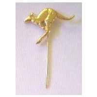 5 X GOLD PLATED KANGAROO STICK PINS