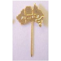 5 X GOLD PLATED AUSTRALIAN MAP STICK PINS