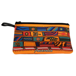 PENCIL CASE - FUNKY ORANGE ABORIGINAL DESIGN