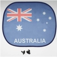 AUSTRALIAN FLAG DESIGN CAR SUNSHADE WITH SUCTION CAPS