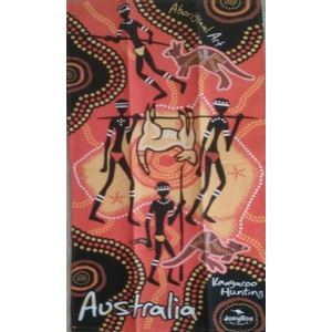 ORANGE ABORIGINAL ART DESIGN KITCHEN (TEA) TOWEL