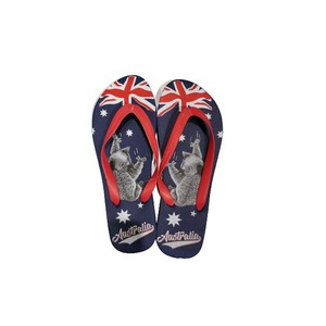 THONGS - AUSSIE FLAG WITH KOALA DESIGN