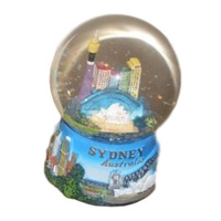 LARGE SYDNEY DESIGN WATERBALL (SNOW GLOBE) - WITH GLITTER