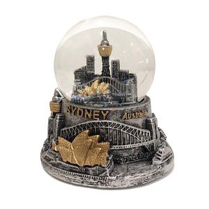 SILVER & GOLD SYDNEY WATERBALL WITH GLITTER
