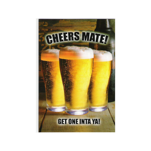 3 COLD BEERS 'CHEERS MATE' GREETING CARD