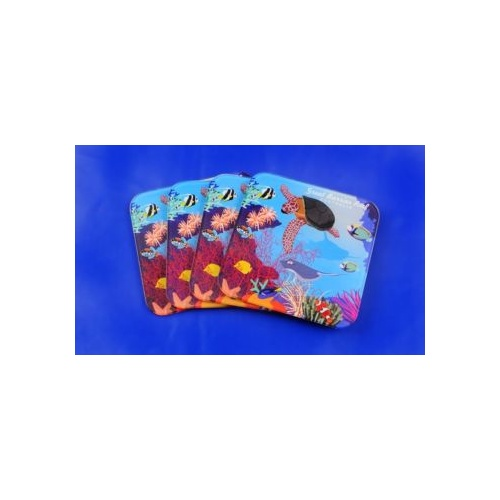 GREAT BARRIER REEF DESIGN DRINK COASTER SET
