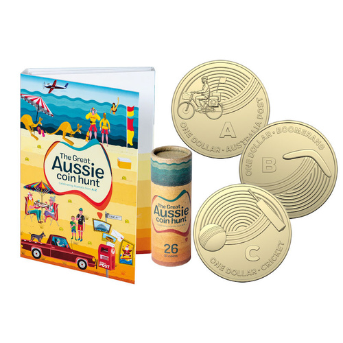 THE GREAT AUSSIE COIN HUNT 26 COIN SET & OFFICIAL COLLECTORS FOLDER