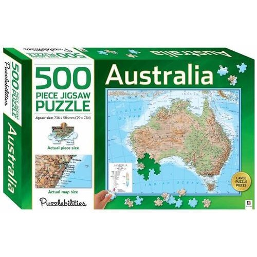AUSTRALIAN MAP 500 PIECE JIGSAW PUZZLE