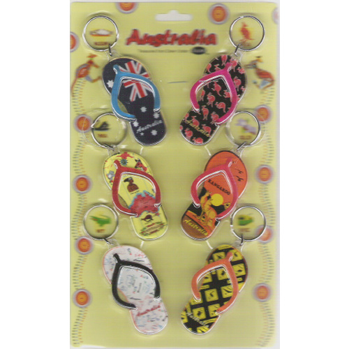 PACK OF 6 THONG DESIGN KEY CHAINS