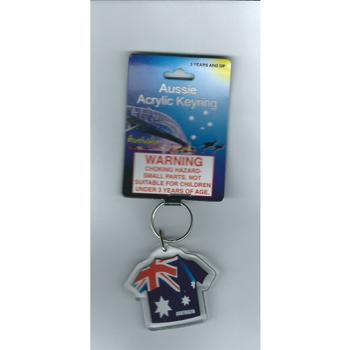 FLAG T-SHIRT KEY CHAIN