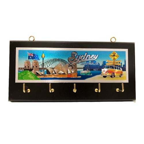 KEY HOLDER - SYDNEY HARBOUR WITH KOMBI VAN