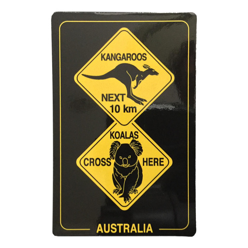 AUSTRALIA ROAD SIGNS DESIGN MAGNET