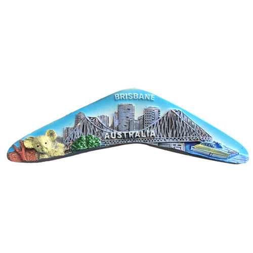 BRISBANE BOOMERANG FRIDGE MAGNET