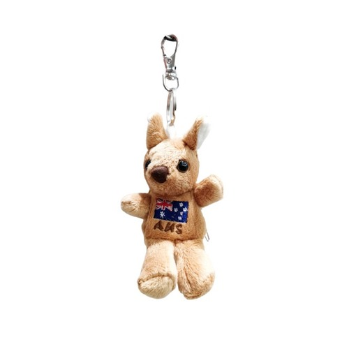SOFT TOY KEYRING - KANGAROO WITH BACKPACK