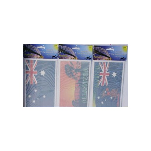 3 PACKS OF 2 AUSTRALIAN FLAG STICKERS - FOR CAR WINDOWS