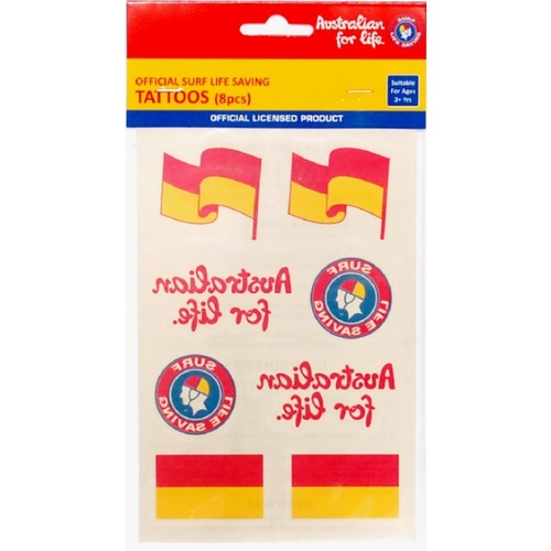 SURF LIFE SAVING OFFICIAL TATTOOS - PACK OF 8